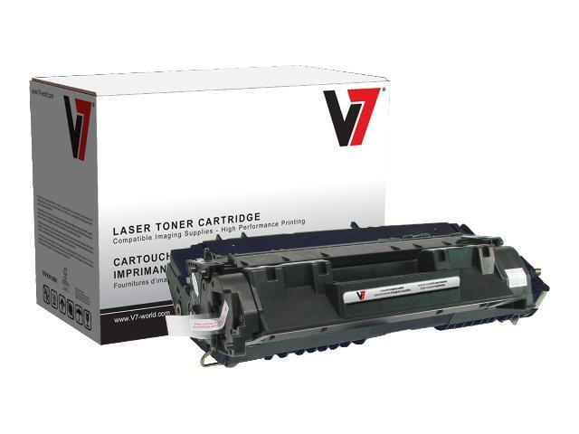 V7 Black Toner Cartridge for HP LaserJet P2035 & 2055dn, V705A, 11055066, Toner and Imaging Components
