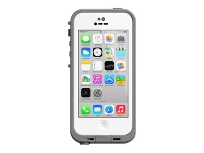 Lifeproof fre Case for iPhone 5C, White Clear