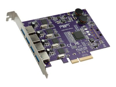 Sonnet Allegro USB 3.0 4-Port PCIe Card, USB3-PRO-4PM-E