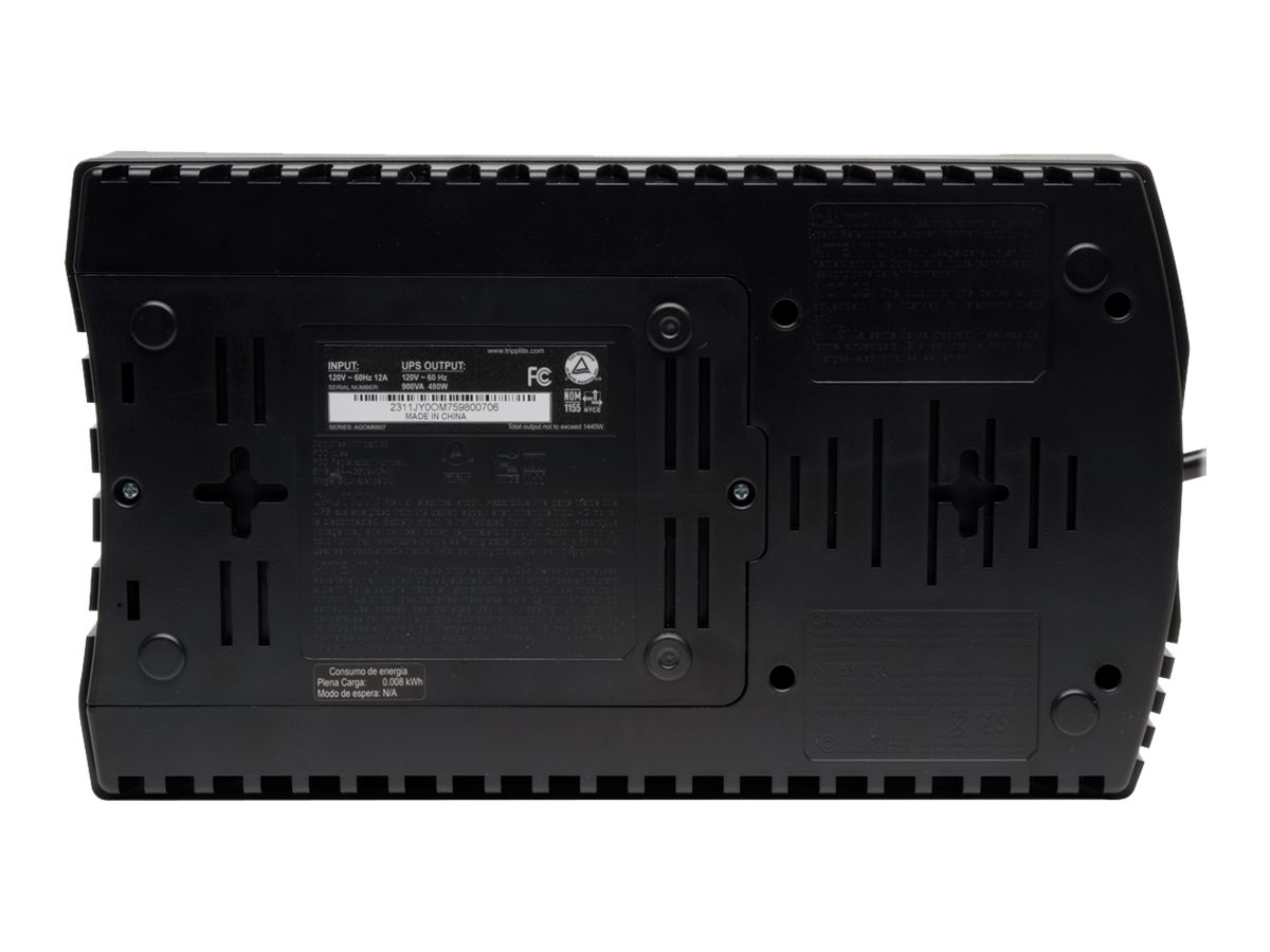 Tripp Lite AVR Series 750VA 450W Ultra-Compact Line Interactive 120V UPS, (12) Outlets, USB Port, TAA Compliant, AVR750UTAA