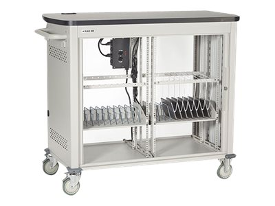 Black Box 20-Unit Tablet iPad Charging Cart with Tambour Door, UCCDS20T, 16004372, Computer Carts