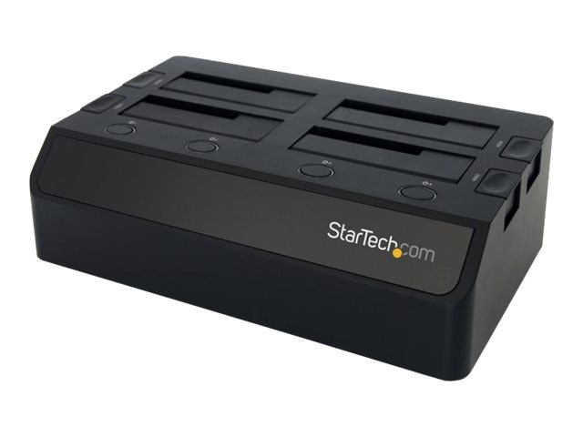 StarTech.com USB 3.0 to 4-Bay SATA 6Gbs 2.5 3.5Solid State Drive Hard Drive Docking Station w  UASP & Dual Fans