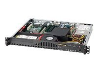 Supermicro 1U Mini-ATX Chassis, 14 UP, 200W PSU, Black, CSE-512-200B, 9410567, Cases - Systems/Servers