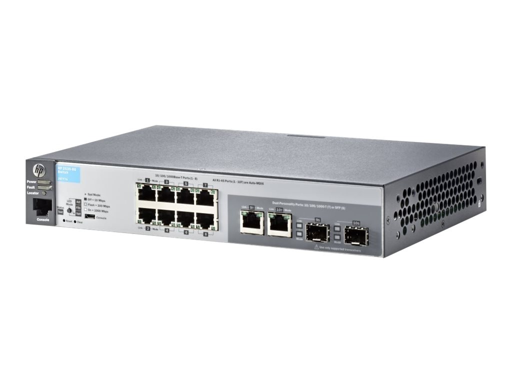 HPE 2530-8G Switch, J9777A#ABA, 15779969, Network Switches