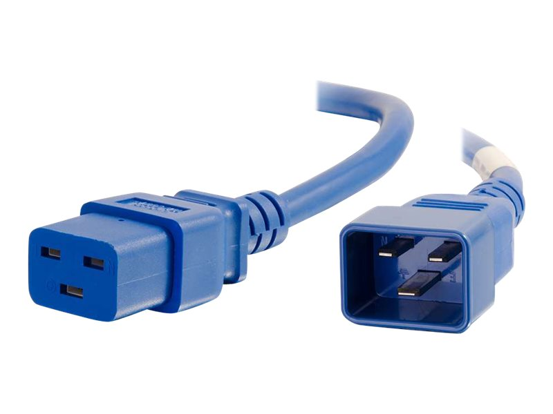 C2G Power Cord IEC320-C20 to IEC320-C19 12AWG, Blue, 3ft