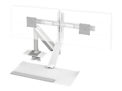 Humanscale Quickstand Lite 2 Monitor Clamp, QSLSWC