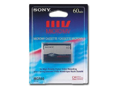 Sony Micro MV Tape, 60min, 3-Pack, MGR60/3B, 11207091, Audio Tape Media