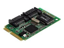 StarTech.com 2-port Mini PCI Express Internal SATA 3Gb s Controller Card, MPEXSATA22I, 12719784, Storage Controllers