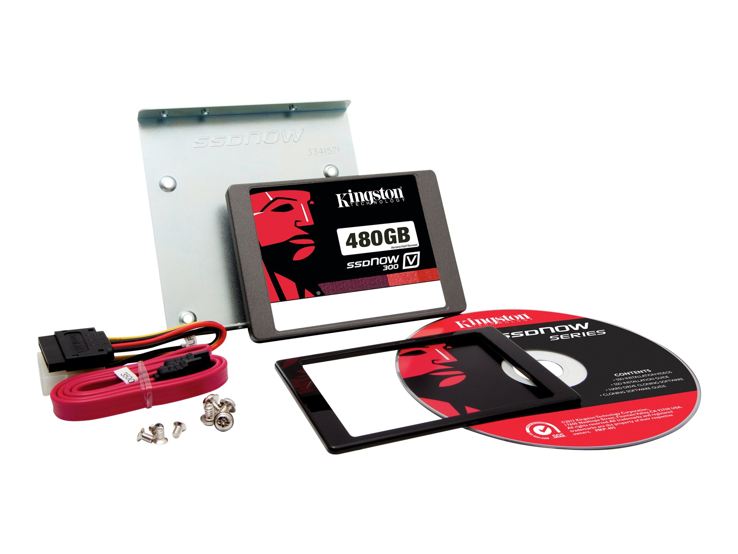 Kingston 480GB SSDNow V300 SATA 6Gb s 2.5 Internal Solid State Drive Desktop Bundle Kit