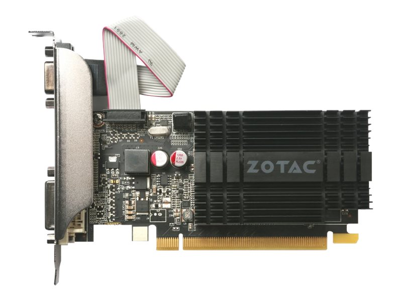 Zotac GeForce GT710 Graphics Card, 2GB DDR3, ZT-71302-20L, 31363605, Graphics/Video Accelerators