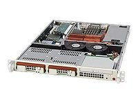 Supermicro Chassis, 1U Rackmount, Dual Xeon, 2x HS SCSI, 520W PS, Black, CSE-811S-520B, 7882721, Cases - Systems/Servers