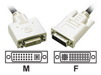C2G DVI-I M-F Dual Link Digital Analog Video Extension Cable, 3m, 29322, 6393407, Cables