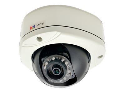 Acti 2MP Outdoor Dome with D N, Adaptive IR, Basic WDR, SLLS, Fixed lens