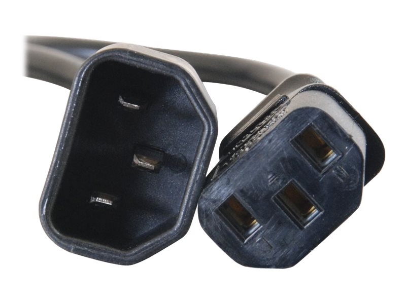 C2G Power Extension Cable, 250V, IEC320C13 to IEC320C14, Black, 10ft