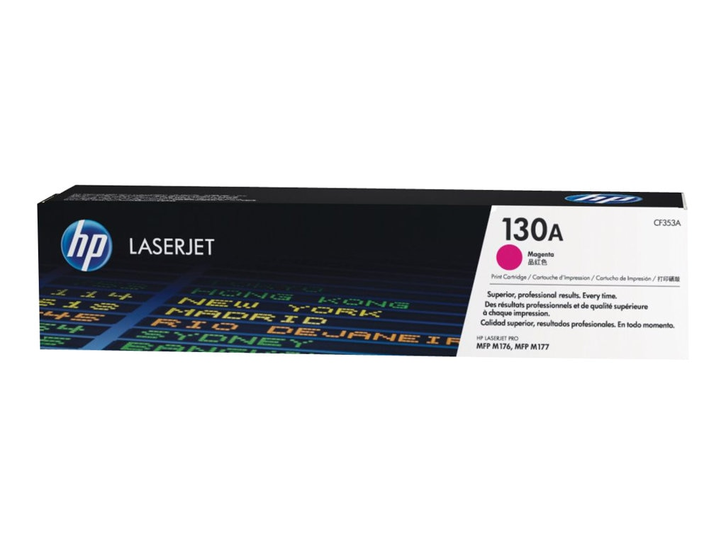 HP 130A (CF3523) Magenta Original LaserJet Toner Cartridge, CF353A, 16433821, Toner and Imaging Components