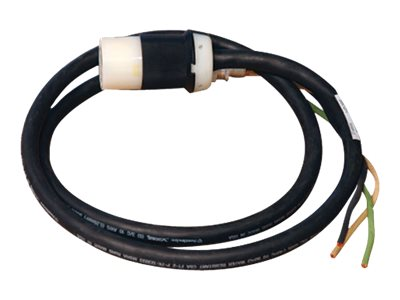 Tripp Lite 120V 1-Phase Whip, 10ft Length with 3ft Removed Outer Jacket, HW Input, L5-20R Output Connector, SUWL520C-10, 11283510, Power Cords