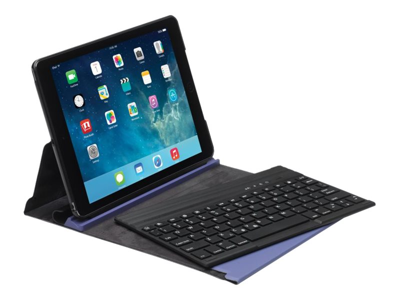 Kensington KeyFolio Exact Thin Folio with Keyboard for iPad Air, Eggplant, K97092US, 16250848, Keyboards & Keypads