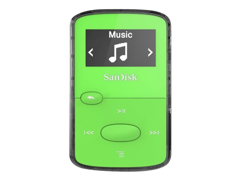SanDisk Clip JAM Bright Green 4x, SDMX26-008G-G46G, 19745686, Digital Media Players