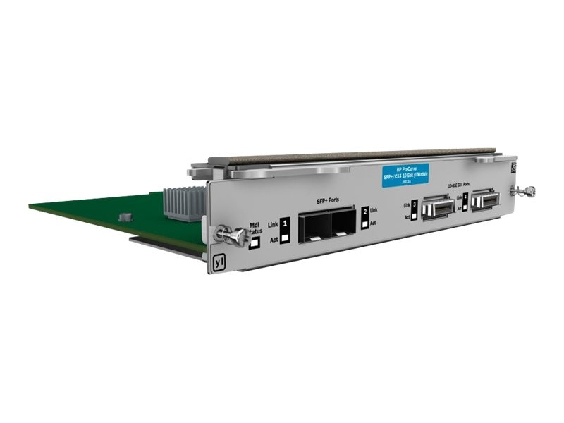 HPE 10GBE 2Pt. CX4 2Pt. SFP+ YL Module 3500YL 6200YL, J9312A, 11071453, Network Device Modules & Accessories