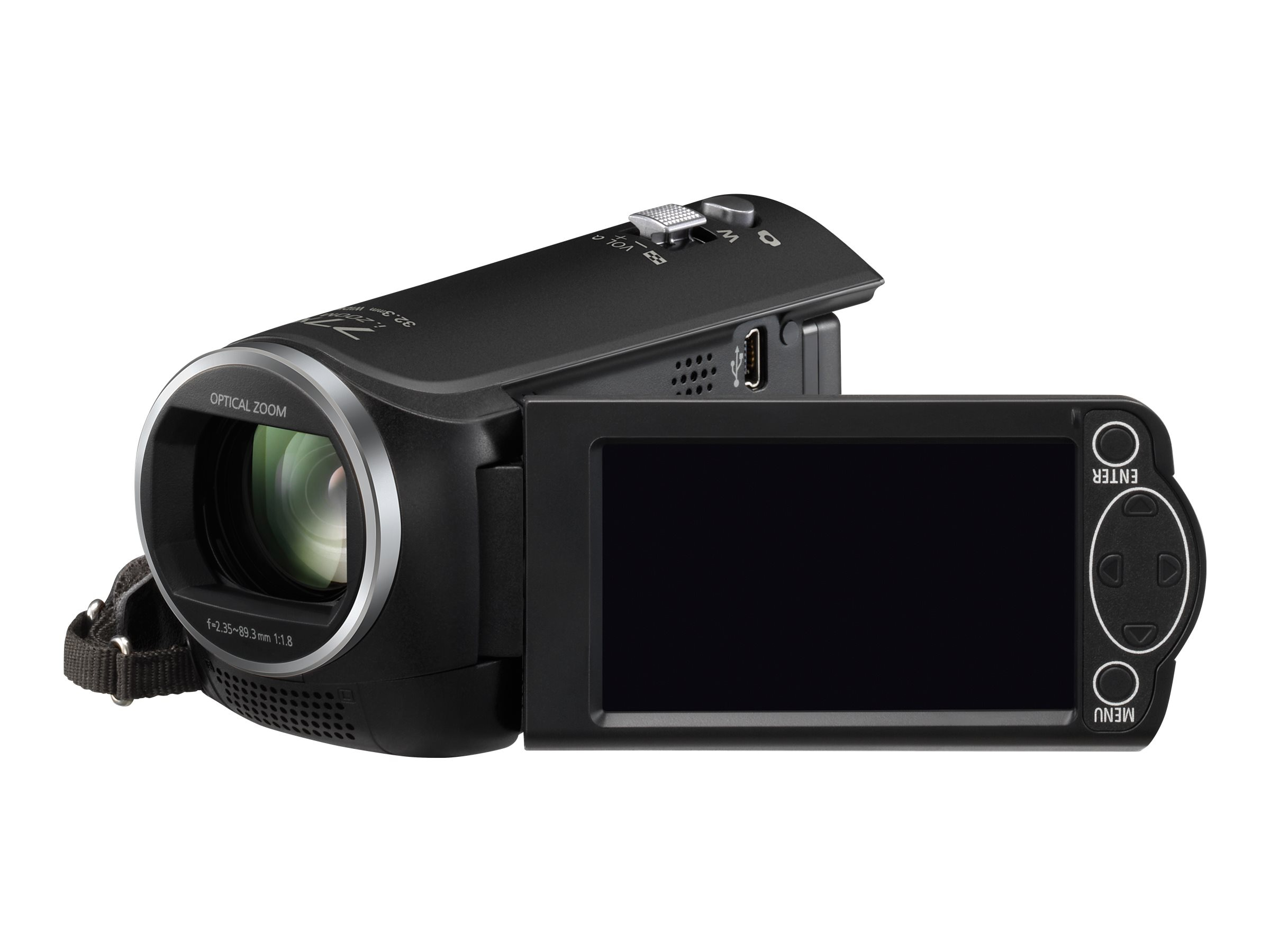 Panasonic HC-V160 Full HD Camcorder with 2.7 LCD Screen, Black, HC-V160K, 28989367, Camcorders