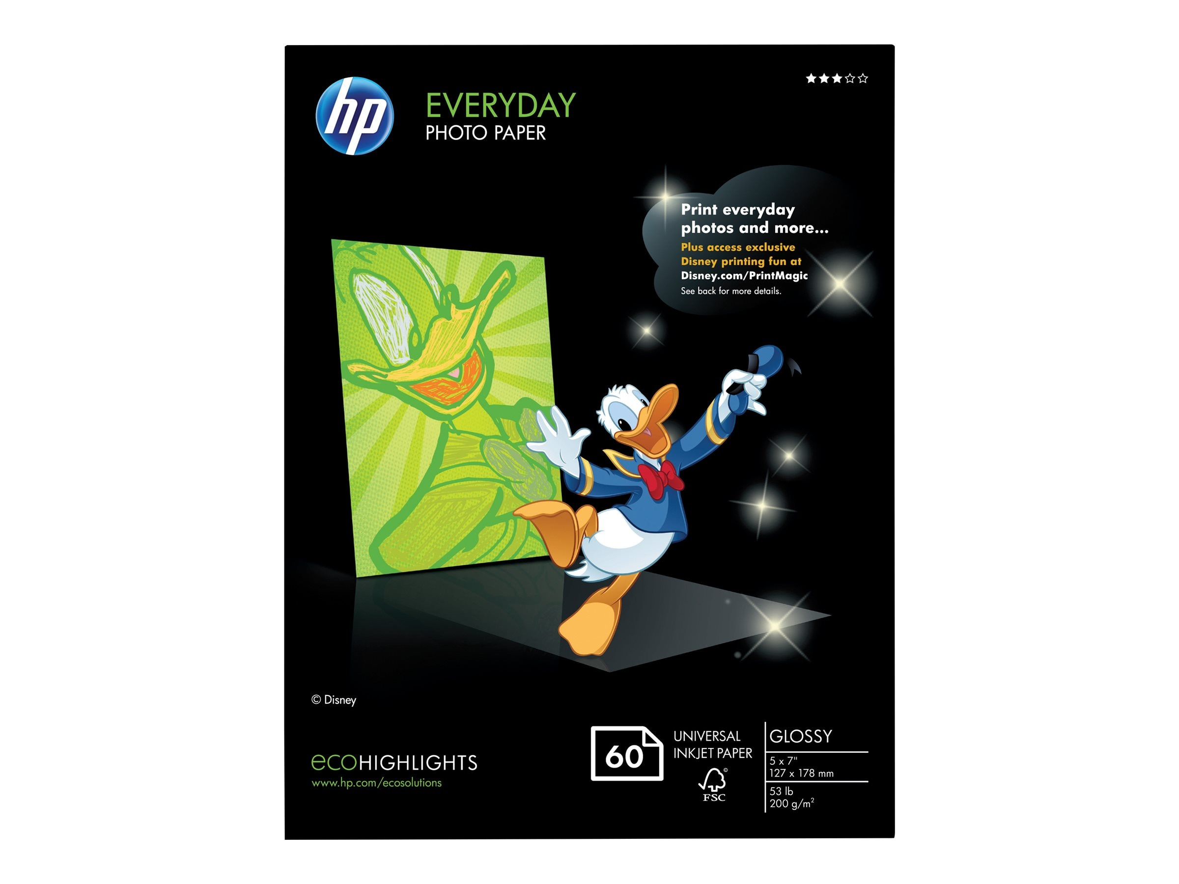 HP 5 x 7 Everyday Glossy Photo Paper (60 Sheets)