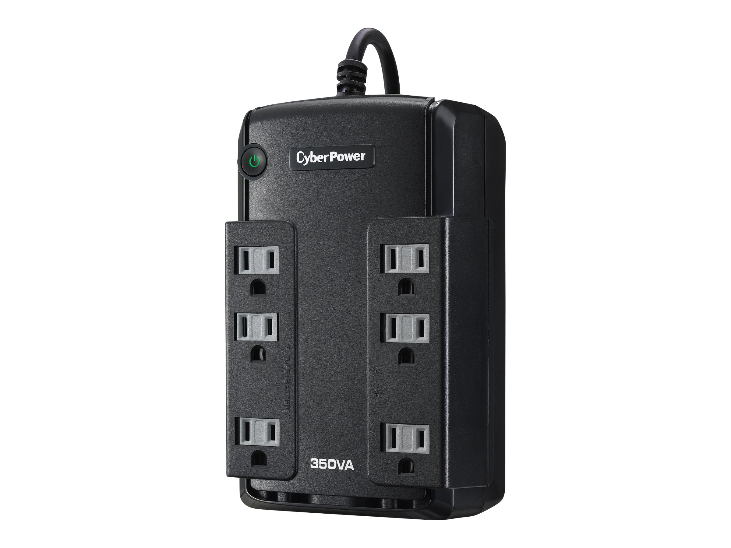CyberPower 350VA Compact 96V-140V Standby UPS 5-15P Input 5ft Cord (6) 5-15R Outlets