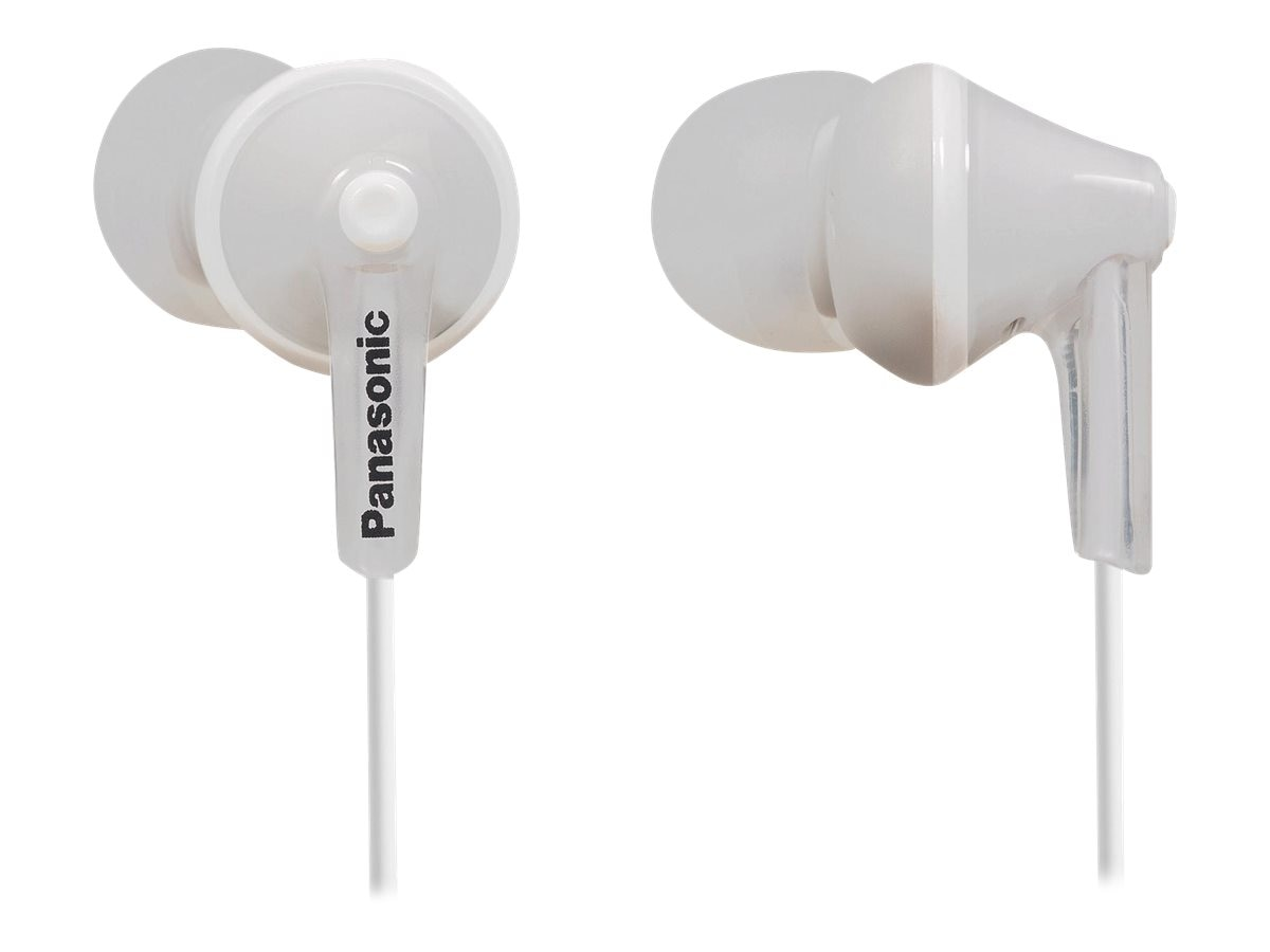 Panasonic ErgoFit In-Ear Earphones - White, RP-HJE125-W