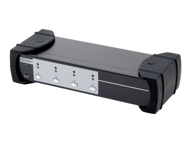 Syba USB 3.0 4-port KVM Switch, 2-port USB 3.0 Hub, HDMI, HML, Audio Connections, SY-KVM31036