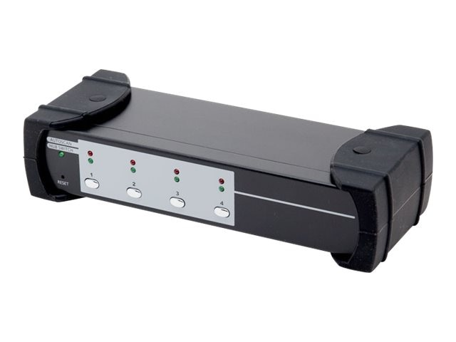 Syba USB 3.0 4-port KVM Switch, 2-port USB 3.0 Hub, HDMI, HML, Audio Connections