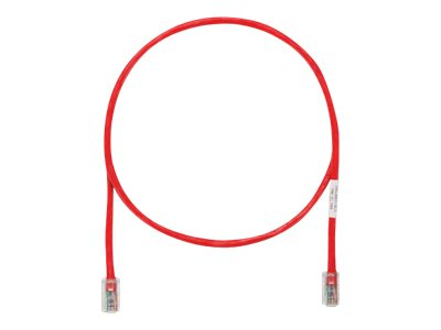 Panduit CAT5E UTP Copper Patch Cord, Red, 1ft, UTPCH1RDY
