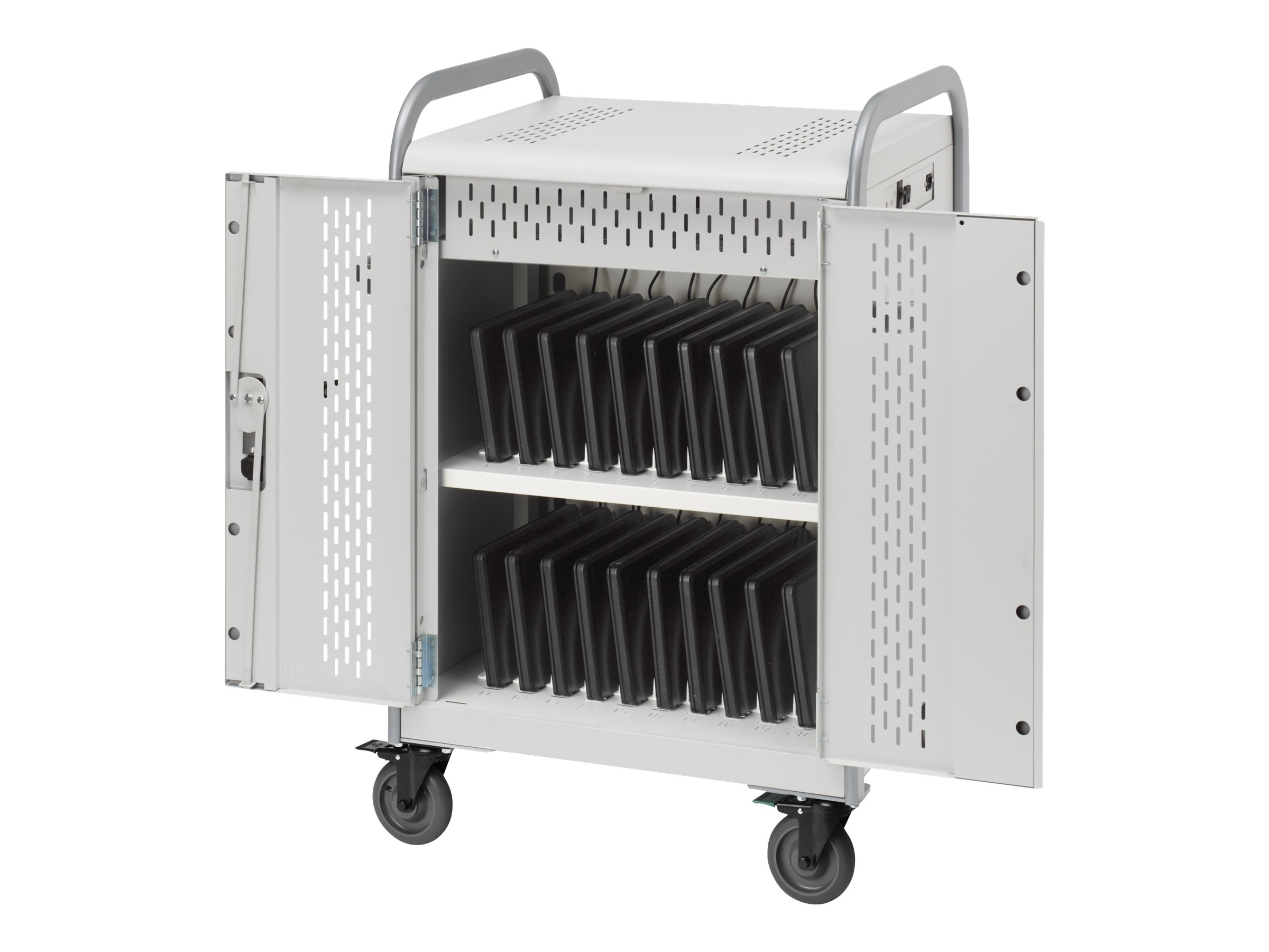 Bretford Manufacturing 20-Unit Store Charge Laptop Transport Cart, MDMLAP20-CTAL, 15009884, Computer Carts