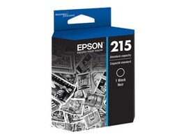 Epson Black 215 Standard-Capacity Ink Cartridge, T215120, 18471978, Ink Cartridges & Ink Refill Kits