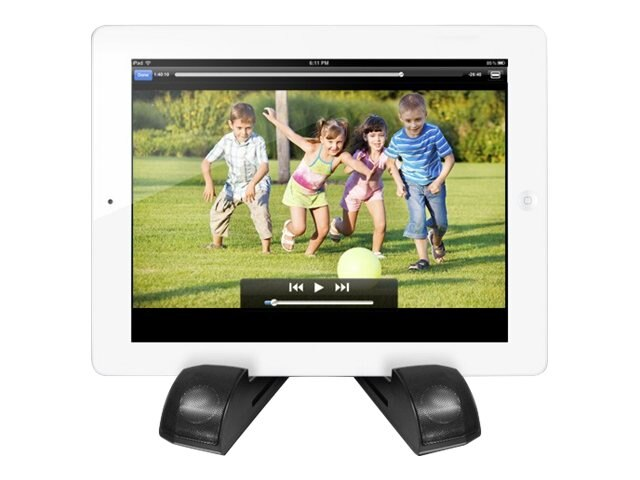 Aluratek Bluetooth Wireless Speaker Tablet Stand - 5W, ATBS01F, 16484097, Speakers - Audio