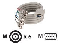 Black Box Video Cable, VGA to RGBHV, 3ft, EYRGBS4-0003, 8919572, Cables