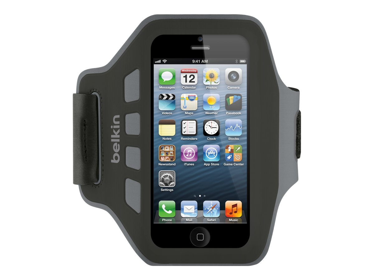 Belkin Ease-Fit Armband, Blacktop for iPhone5