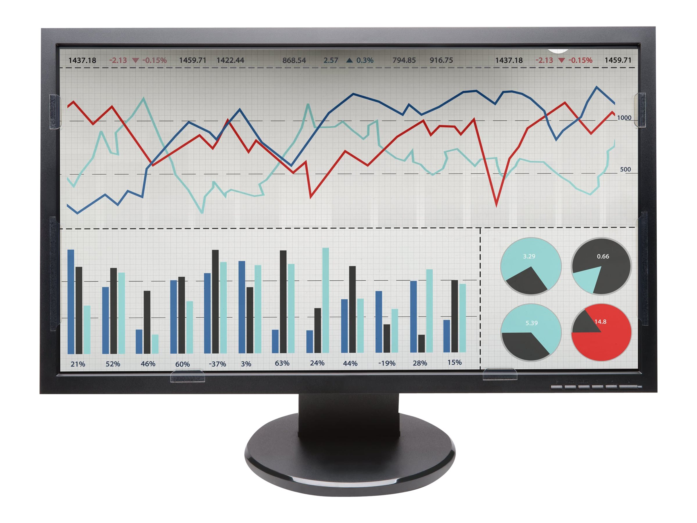 "Kensington FP240W Privacy Screen for 24"" Widescreen Monitors, K52794WW"