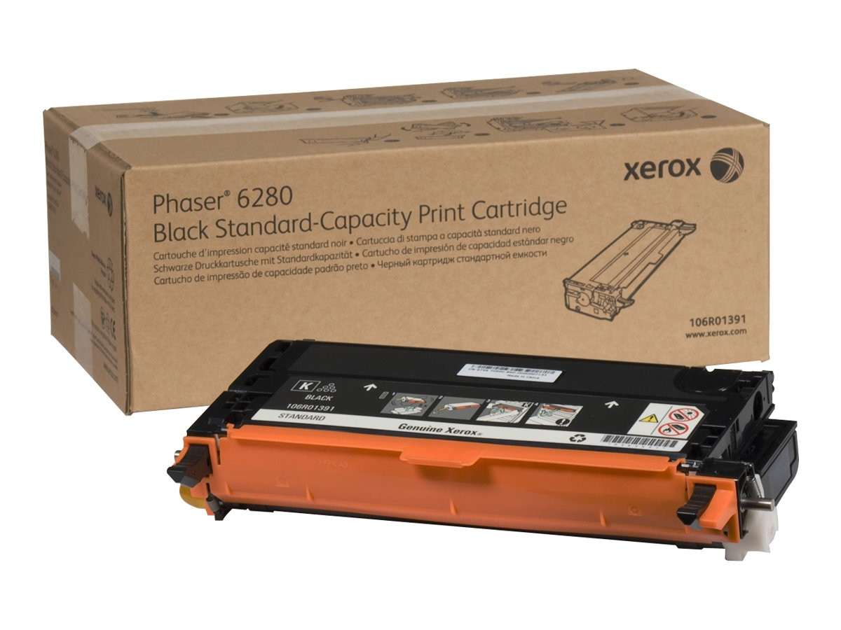Xerox Black Standard Capacity Print Cartridge for Phaser 6280, 106R01391, 9409734, Toner and Imaging Components