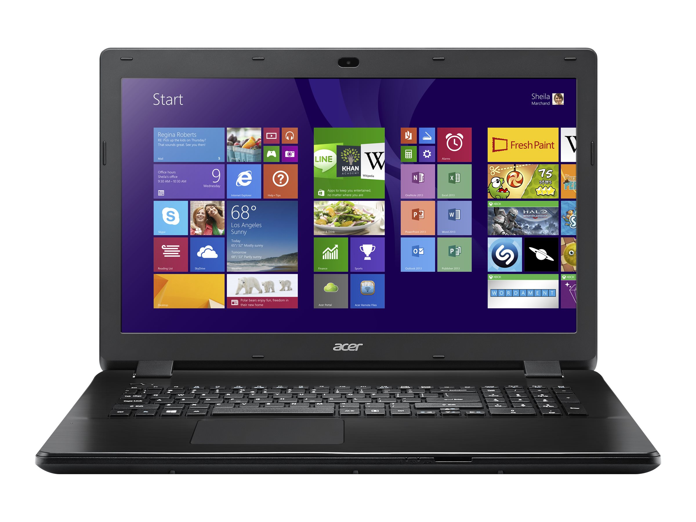 Acer Aspire E5-721-29G5 17.3 Notebook PC, NX.MNDAA.011