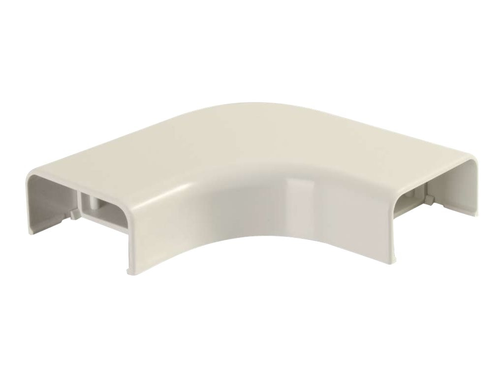C2G Wiremold Uniduct 2900 Bend Radius Compliant Flat Elbow, Ivory