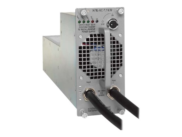 Cisco NEXUS 7000 7.5kW AC Power Supply Module with US Power Input, N7K-AC-7.5KW-US, 9379408, Power Supply Units (internal)