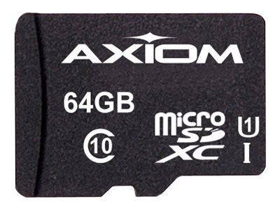 Axiom 64GB Micro Secure Digital Extended Card, MSDXC10/64GB-AX, 17723854, Memory - Flash