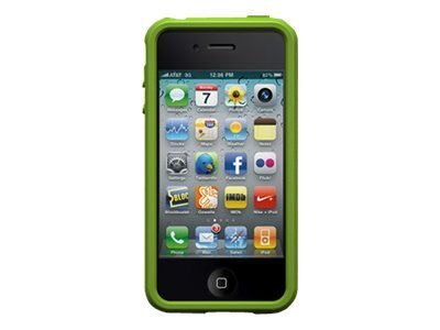 Imation XM Border Case for iPhone4, Black Green, 02242, 12052182, Carrying Cases - Phones/PDAs