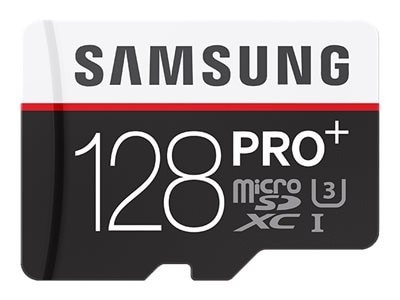 Samsung 128GB Micro SD PRO+ Memory Card with SD Adapter, MB-MD128DA/AM, 31014780, Memory - Flash