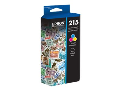 Epson 215 Black & Color Ink Cartridges (2-pack), T215120-BCS