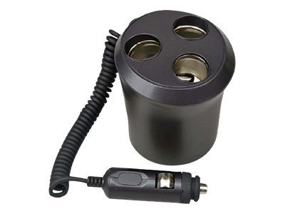Pyle Plug In Car1 to 3 Cigarete Lighter Multiplier in Cup Holder Design, PL12VP3C, 31189299, Stereo Components