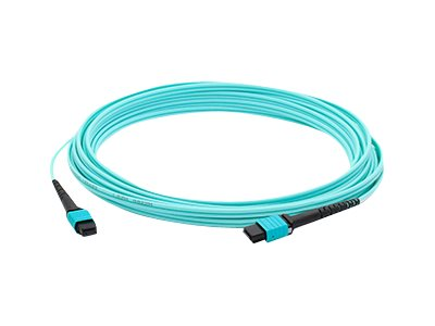 ACP-EP OM3 Fiber Patch Cable, MPO-MPO, 50 125, Multimode, Duplex, Aqua, 50m, ADD-MPOMPO-50M5OM3S