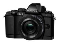 Olympus OM-D E-M10 Mirrorless Micro Four Thirds Digital Camera with Two Lenses, Black, V207021BU050, 30535823, Cameras - Digital - SLR