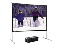 Da-Lite Fast-Fold Deluxe Screen System, Foldable Black-Backed Da-Mat, 4:3, 63 x 84