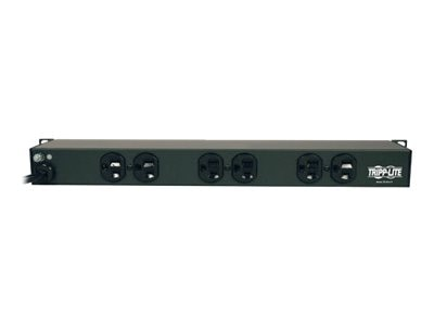 Tripp Lite PDU Rackmount 1U 15ft Cord 120V 15A (6) Outlets, RS-0615-R