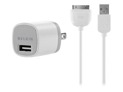 Belkin MicroCharger, ChargeSync At Home, 4ft Cable, F8Z981TTP, 12341697, AC Power Adapters (external)